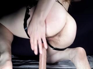 POV Riding A Hard Cock dildo