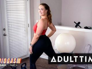 ADULT TIME - Siri Dahl Masturbates With Huge Vibrating Dildo During Sexual Stamina Workout