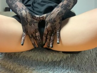 Mini Eva Touch Her Wet Pussy With Her Fingers Inside 4K 18+