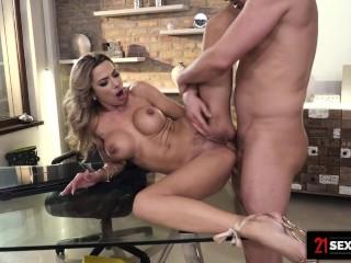 21Sextury Big Tit Shalina Devine Prepares Her Ass For Explosive Anal Cumshot