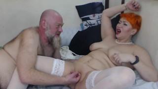 Rough fucking redhead mature bitch in public show!