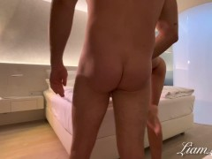 Tinder date in hotel , hard rough fuck -amateur girl