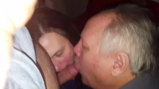 MILF creampied by Bull friend cucky cleans