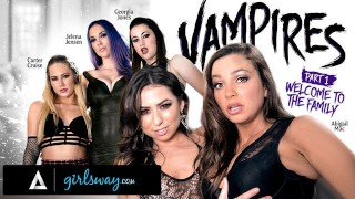 GIRLSWAY Abigail Mac Is Gangbanged Hard By A Vampire Coven