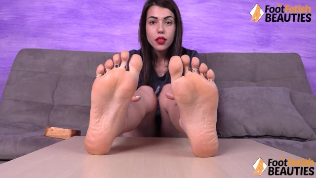 Hot Petra Feet takes socks off then gives a sniff to feet
