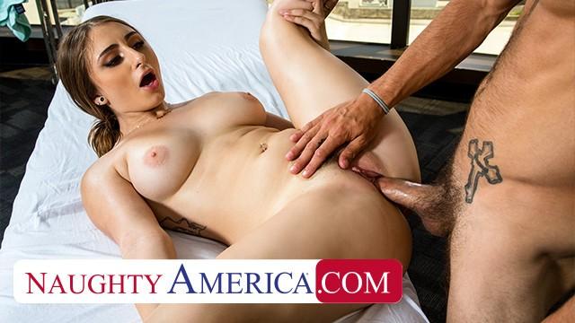 Naughty America - Penelope Kay rubs and tugs a married man
