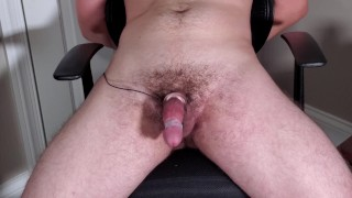 Left Tied To Chair With Vibrator Taped To Cock While Femdom Girlfriend Was at Work (Huge Cumshot 4K)