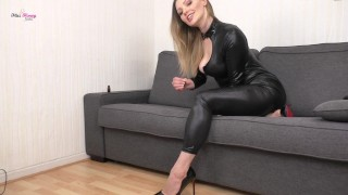 Intense JOI from Sexy Step Mom in Catsuit and Heels