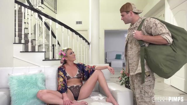 Step Son Comforts Hot Blonde Step Mom With His Cock After His Dad Leaves Her