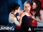 GIRLSWAY Adriana Chechik's Yoga Turns Them Into Squirters lesbian kissing tube