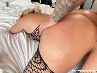 big booty instagram model alva jay gets a thick dick slammed in her holes