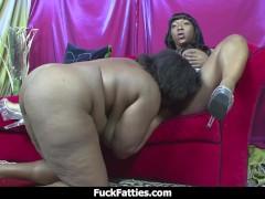 Fuck Fatties Black Girl To Girl BBW Big Boobs And Big Ass Galore