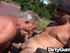 Never too old to suck fresh cock