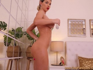 Sensual Massage Masturbating Orgasm with Busty Horny Blonde TonniaTaylor