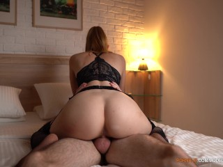 Redhead Girl Gets Cum And Creampie From Hard Fuck In Doggystyle — 4K Amateur, Doggystyle Porn