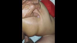 Extremely spanked while fucking doggie style