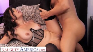 Naughty America – Harley Haze begs for Giovannis married cock after their ass therapy