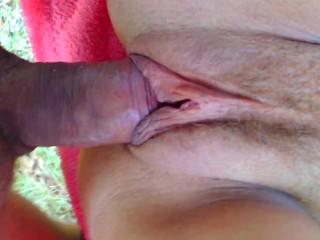 Outdoor big ass tan lines milf creampie