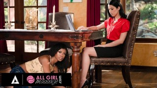 AllGirlMassage Alex Coal Has Her Pussy Wet During A Meeting