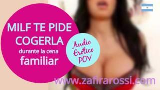 Audio Hot Milf Te Masturba Durante La Cena Familiar Final Intenso Asmr Voz Argentina Real Cuckold