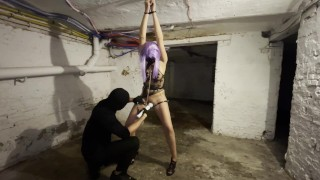 JNDTY - MidnightRoxy gets attached, whipped and squirt all over the floor