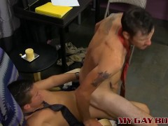 Danny Brooks anal fucked by his young boss Drake Mitchell