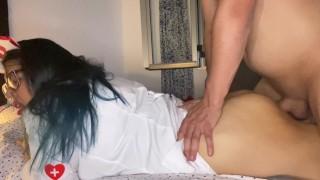 STEPMOM NURSE examines her stepson! Part 2 4k