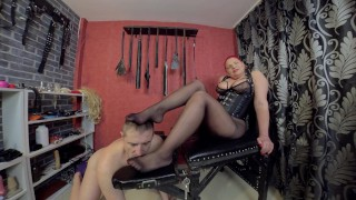 Submissive Slave Sniff my Panties