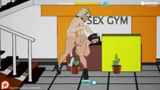 Fuckerman - Freaky Gym Public Fuck