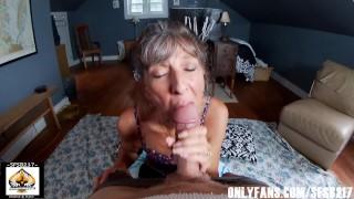 Sexy Granny Big Cock Blowjob POV Compilation