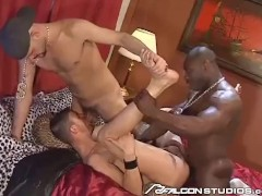 Falcon Retro - Street Gang Share New Member's Asshole In Vintage Threesome