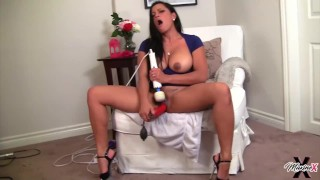 Asian Persuasion Maxine X Squirting With Her Toy Collection!