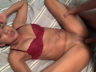 OnlyFans/lexxierex for full video 🔥 Sexy Latina gets Creampied!