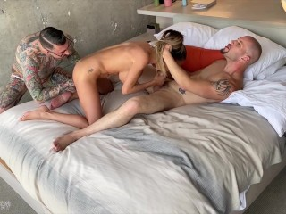 Leo Rex's First Bisexual MMF Threesome! nude beach bisexual