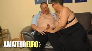 AMATEUREURO - Fat Ass German Granny Hardcore Amateur Fuck