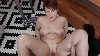 SHAME4K. Hot BBW forgets about age when approached by her friends son