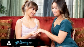 GIRLSWAY Riley Reid And Alina Lopez Show Their Tongue Skills