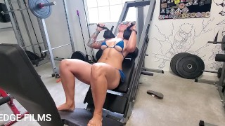 Want to see my squat onto the camera doing hack squats? Join my OF to see it nude