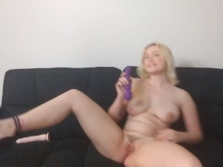 Strip Tease and Doggystyle Dildo Fuck in Heels
