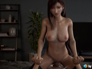 Tifa's Pussy Creampied by Cloud (with ASMR sound) FInal Fantasy 3d animation hentai anime loop
