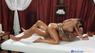 Massage Rooms - Inked Beauty Medusa Gets An Oily Rubdown & A Pussy Pounding By Stud Angelo Godshack