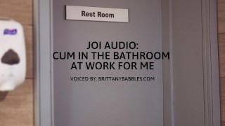 Audio: Cum in the Bathroom at Work for me JOI