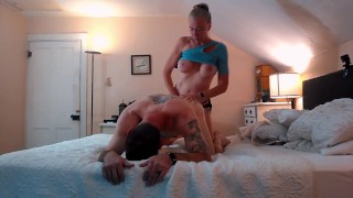 ROMANTIC & INTIMATE - Giving it to each other Very Hard! Passionate PEGGING and SENSUAL Fucking!