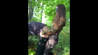 fucked by stranger woman in forest- full clip on my Onlyfans (link in bio)
