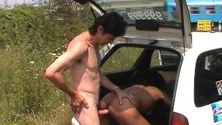 ebony milf public fucked by taxi driver