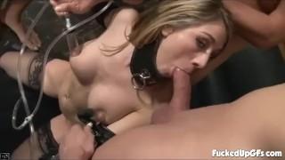 Horny Blonde Babe Loves Hardcore Group Sex - Amber Ashlee