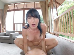 NAKED YOGA and HUGE SQUIRTING PUSSY !!! Hot Brunette Gets Pussy Eating and Fucking