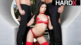 HardX - Dirty Little Slut Jane Wilde DP'd Like A Champ