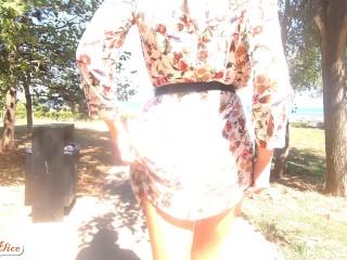 Panties Flash in Publik Walk 4K