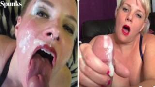 Amateur Cumpilation: Cum in Mouth, Cum Play, Big Facials and Swallows